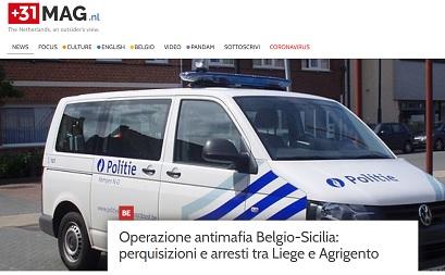 OPERAZIONE ANTIMAFIA BELGIO-SICILIA: PERQUISIZIONI E ARRESTI TRA LIEGE E AGRIGENTO