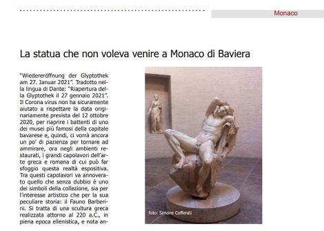 La statua che non voleva venire a Monaco di Baviera – di Simone Cofferati