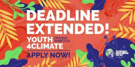 Youth4Climate: prorogata la scadenza per le candidature