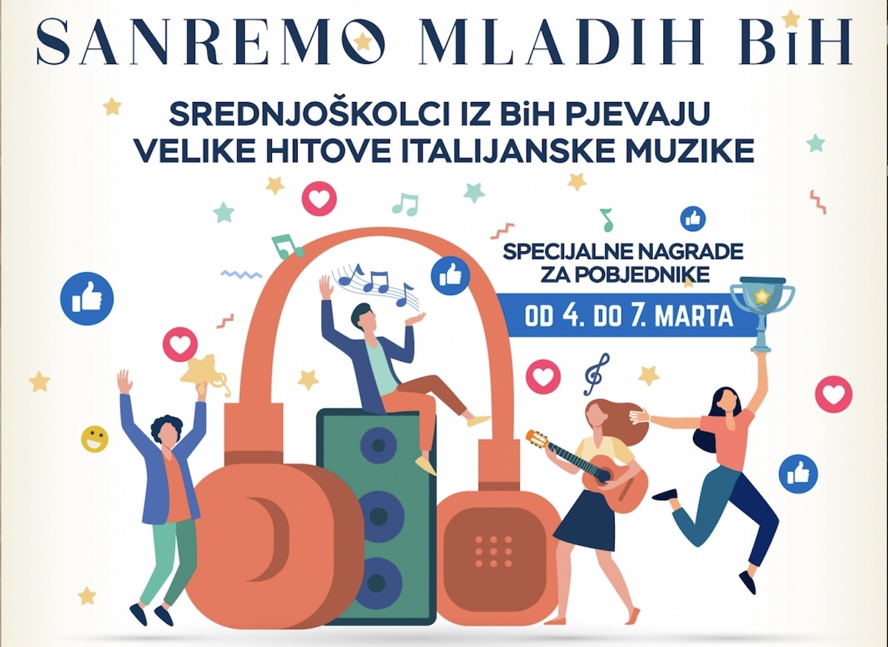 "Sarajevo: l'Ambasciata lancia il concorso ""Sanremo mladih BiH"""
