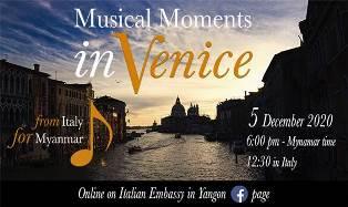 """""""From Italy for Myanmar"""": domani la diretta del concerto da Venezia"""