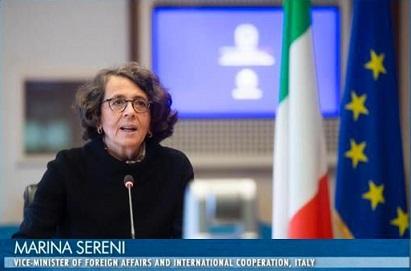 Il vice ministro Sereni ai Women's Forum Med Dialogues 2020