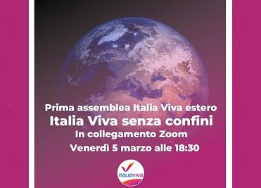 """""""Italia Viva senza confini"""": oggi la prima assemblea di """"Italia Viva mondo"""""""