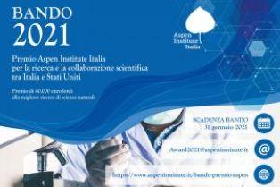 Premio Aspen per la collaborazione scientifica Italia – Usa: aperte le iscrizioni