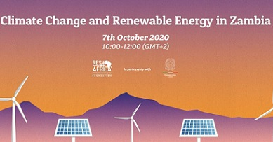 """""""CLIMATE CHANGE AND RENEWABLE ENERGY IN ZAMBIA"""": IL WEBINAR DELL"""