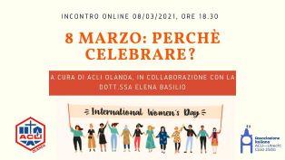 8 marzo: perchè celebrare? Dibattito online con le Acli Olanda
