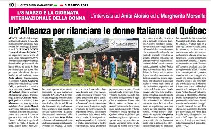 Un'Alleanza per rilanciare le donne Italiane del Québec – di Vittorio Giordano
