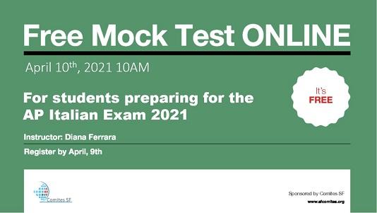 San Francisco: dal Comites test online per gli studenti dell'Ap italian