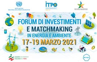 Dal 17 al 19 marzo il Forum di Investimenti e Matchmaking in Energia e Ambiente di UNIDO ITPO Italy