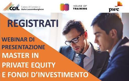 Private Equity e Fondi d'Investimento: la CCIL presenta la nuova edizione del Master