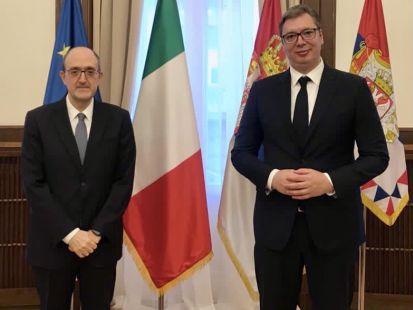 Serbia: il Presidente Vucic riceve l'Ambasciatore Lo Cascio