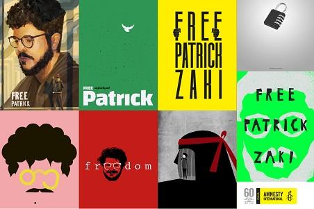 Free Patrick Zaki, prisoner of conscience: i poster nelle città italiane