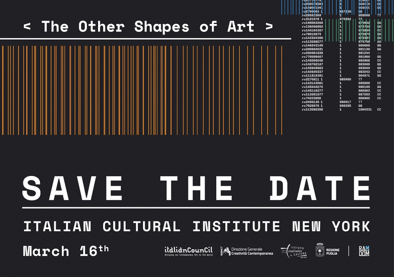 The Other Shapes of Art: Emilio Vavarella in diretta streaming all'IIC New York