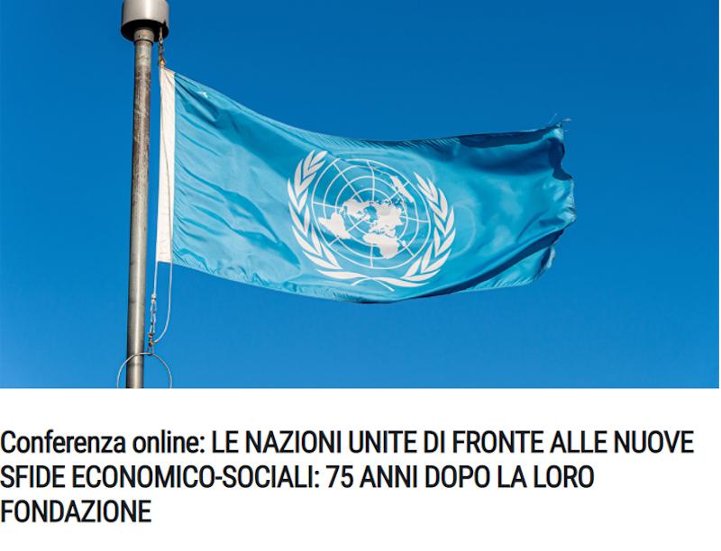 """Il vice ministro Sereni al convegno SIOI """"Le Nazioni Unite di fronte alle Nuove Sfide Economico-Sociali"""""""