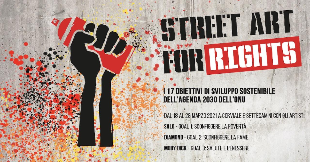 Street Art for Rights nelle periferie di Roma con Diamond   SOLO   Moby Dick