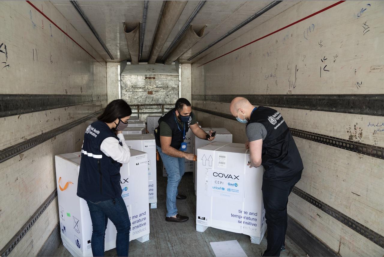 UNICEF/OMS/GAVI: la Siria riceve 256.800 dosi di vaccino contro il COVID-19 da COVAX Facility