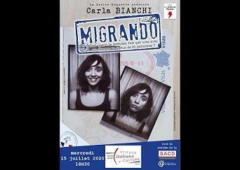 """""""MIGRANDO"""": IL TEATRO DI CARLA BIANCHI A PARIGI PER """"UN JARDIN DE CULTURE"""""""