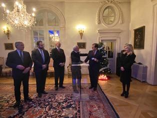 BRUXELLES: L'AMBASCIATRICE BASILE RICEVE I BENEMERITI DELLA REPUBBLICA DELL'ANCRI