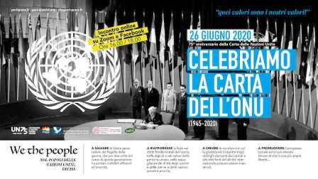 """75° ANNIVERSARIO DELLA CARTA DELLE NAZIONI UNITE: IL WEBINAR DEL COMITATO """"MARCIA PER LA PACE"""""""