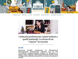 """I TEDESCHI PREFERISCONO I PIATTI ITALIANI A QUELLI NAZIONALI: LA STORIA DI UN """"AMORE"""" IN CRESCITA – di Francesca Gentile"""