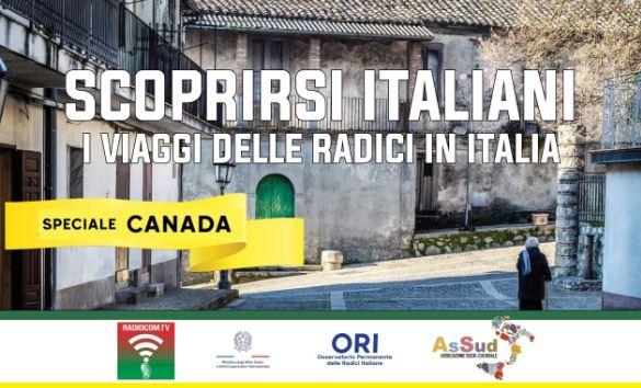 """Speciale Canada con """"Scoprirsi italiani"""": online il webinar"""