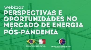 OPPORTUNITÀ NEL MERCATO ENERGETICO IN BRASILE: WEBINAR DELLA CAMERA DI COMMERCIO DEL MINAS GERAIS