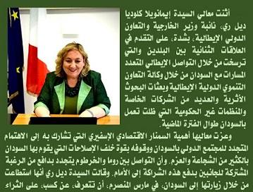 IL VICEMINISTRO DEL RE APRE IL WEBINAR SUGLI INVESTIMENTI IN SUDAN