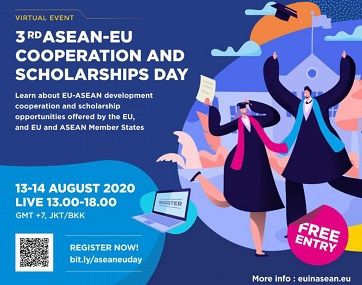 COOPERAZIONE E BORSE DI STUDIO ASEAN-UE: DOMANI INCONTRI ONLINE PER LA 3° GIORNATA DI PRESENTAZIONE