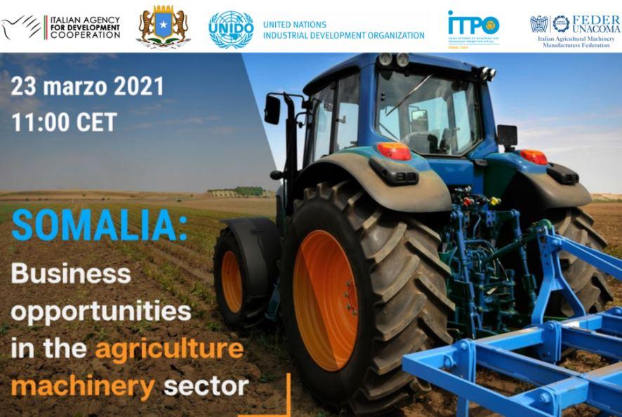 Macchine agricole in Somalia: le opportunità per aziende italiane nel webinar di UNIDO e AICS