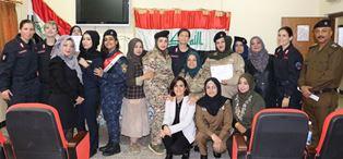 CORSO DI ADDESTRAMENTO DEI CARABINIERI PER LE POLIZIOTTE IRACHENE