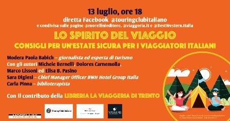"""""""LO SPIRITO DEL VIAGGIO"""": INCONTRO IN STREAMING CON IL TOURING CLUB ITALIANO"""