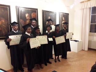 L'IIFS A MONTE SAN MARTINO (MC) PER LA CERIMONIA CONCLUSIVA DEL CORSO DI FORMAZIONE PER GLI STUDENTI DELLA REPUBBLICA DEMOCRATICA DEL CONGO