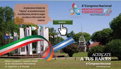Si terrà online il 6° congresso dei piemontesi d'Argentina