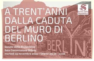 BERLINO: GARAVINI (IV) PROMUOVE IN SENATO UN CONVEGNO INTERNAZIONALE PER LA CADUTA DEL MURO