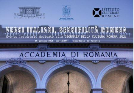"""""""Versi italiani, sensibilità romena"""": a Roma la Giornata della Cultura Romena 2021"""