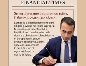 LETTERA DEL MINISTRO DI MAIO AL FINANCIAL TIMES: GLI STATI UE NON SIANO INTRAPPOLATI DALL