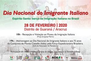 ESPIRITO SANTO: AD ARACRUZ LA GIORNATA NAZIONALE DEL MIGRANTE ITALIANO SI CELEBRA IL 28 FEBBRAIO