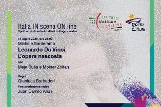 """""""ITALIA IN SCENA ON LINE"""": È DEDICATO A LEONARDO IL SECONDO APPUNTAMENTO DEL CICLO PROMOSSO DALL'IIC DI BELGRADO"""