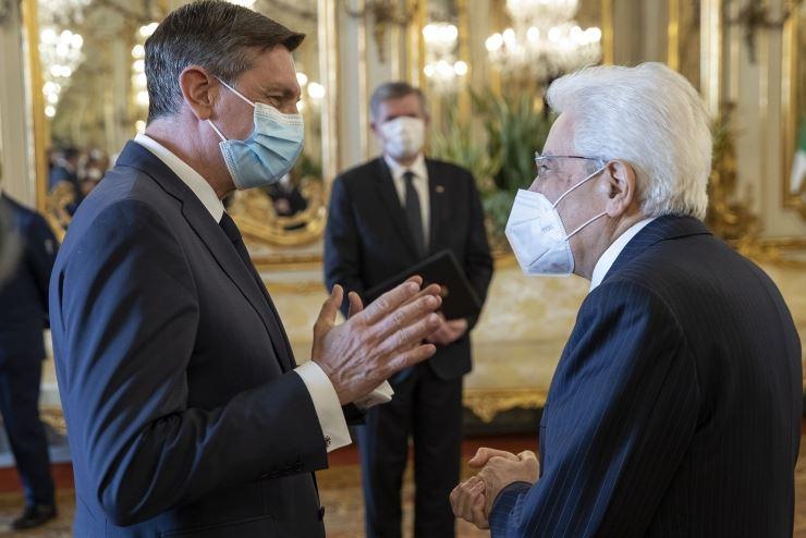 Italia-Slovenia: Mattarella accoglie Pahor