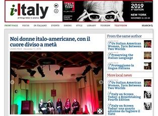 NOI DONNE ITALO-AMERICANE CON IL CUORE DIVISO A METÀ – di Laura Pace