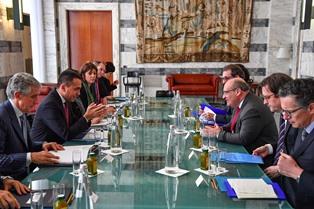 ALLA FARNESINA LA V COMMISSIONE ITALIA-AZERBAIGIAN/ DI MAIO INCONTRA IL MINISTRO AZERO SHAHBAZOV