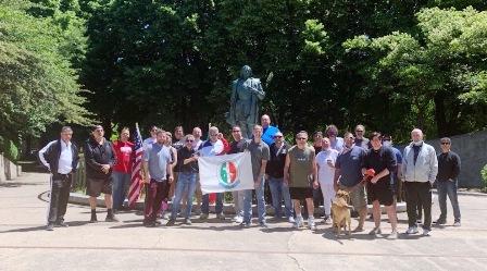 PROTESTE ANTIRAZZISTE USA/CHICAGO: IL CTIM PULISCE E RIPARA LA STATUA DI COLOMBO