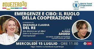 DEL RE: LA COOPERAZIONE INTERNAZIONALE È NEL DNA DELL'ITALIA