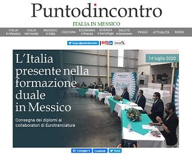 L'ITALIA PRESENTE NELLA FORMAZIONE DUALE IN MESSICO