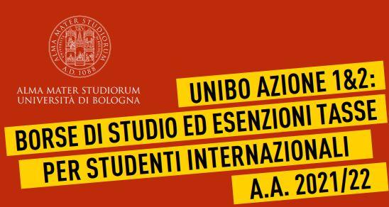 Università di Bologna: Borse di studio per studenti internazionali