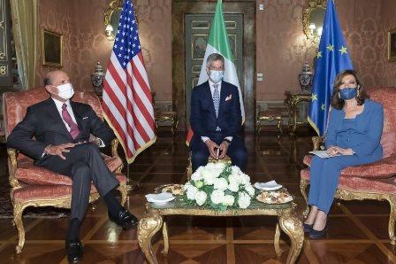 ITALIA – USA: LA PRESIDENTE DEL SENATO CASELLATI RICEVE L'AMBASCIATORE EISENBERG