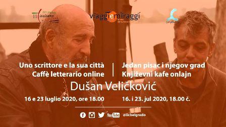 AL CAFFÈ LETTERARIO DELL'IIC DI BELGRADO LO SCRITTORE DUŠAN VELIČKOVIĆ