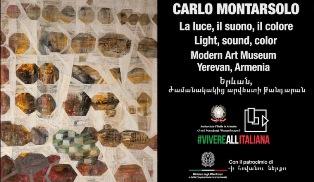 """""""CARLO MONTARSOLO. LA LUCE, IL SUONO, IL COLORE"""" IN MOSTRA IN ARMENIA"""