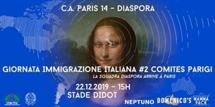 DOMANI A PARIGI LA SECONDA GIORNATA DELL'IMMIGRAZIONE ITALIANA ORGANIZZATA DAL COMITES