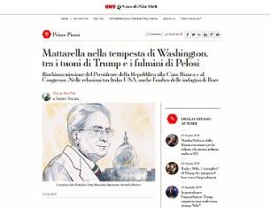 MATTARELLA NELLA TEMPESTA DI WASHINGTON TRA I TUONI DI TRUMP E I FULMINI DI PELOSI - di Stefano Vaccara